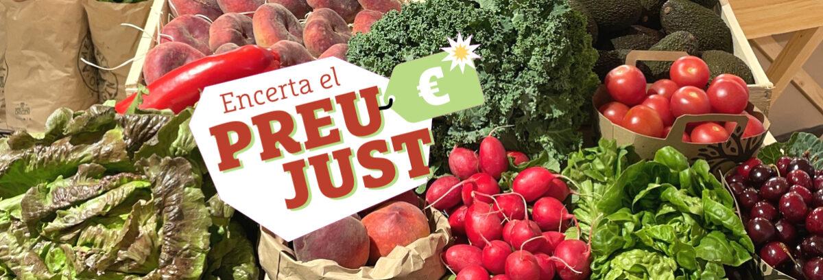 """""""Encerta el preu just"""" i guanya un lot de fruites i verdures de collita pròpia de temporada!"""