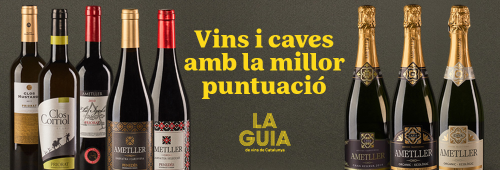 Els vins de Família Ametller triomfen a la Guia dels Vins de Catalunya i el Rosselló 2022